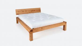 Bett YAK; metallfreies Massivholzbett; vorzüglich geeignet für Futons|Metallfreies Futonbett YAK aus massivem Zirbenholz