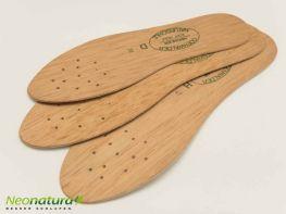 verschiedene Größen der Odenwälder Naturholz-Einlegesohle stehen zur Auswahl