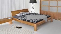 Bett Taurus mit Kopfteil aus Massivholz|Gesamtansicht Massivholzbett Taurus